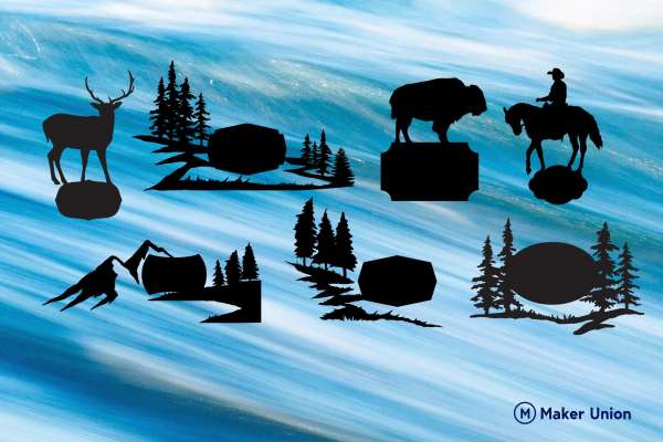 Nature Signs free dxf files preview