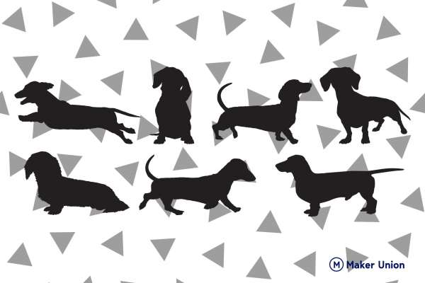 Dachshunds free dxf files preview
