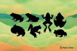 Frogs dxf files preview