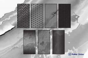 hexagonal wall panels dxf files preview