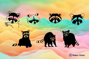 Racoons dxf files preview