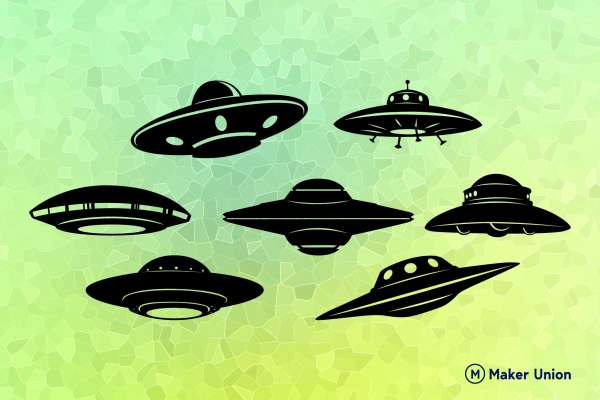 UFO free dxf files preview