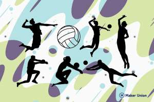 Volleyball dxf files preview