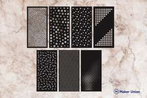Abstract panels dxf files preview