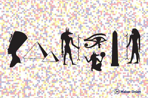 Ancient Egypt free dxf files preview