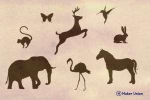 Animal safari DXF files preview