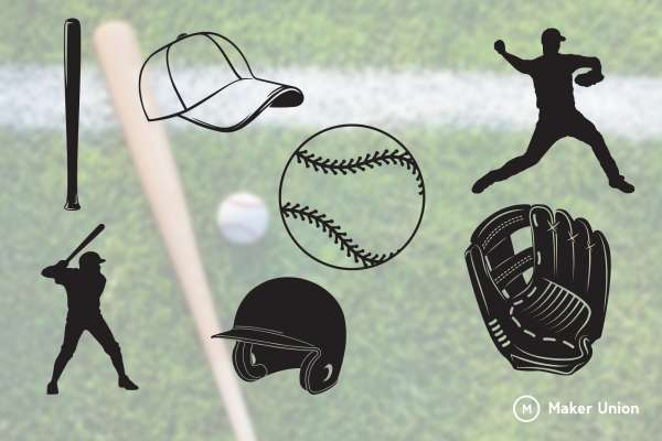 Baseball dxf files preview