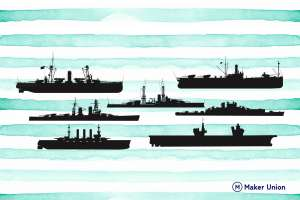 Battleships dxf files preview