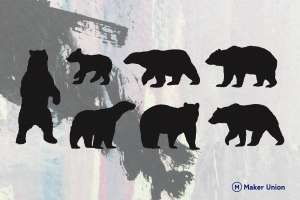 Bears dxf files preview