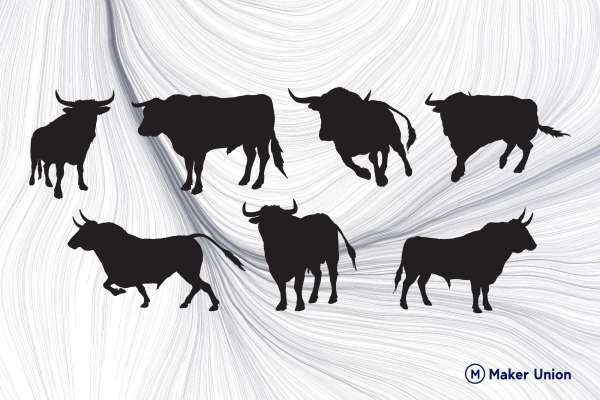 Bulls free DXF files preview