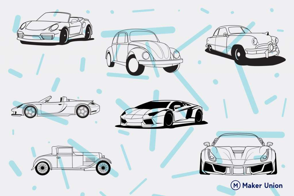 Cars dxf files preview