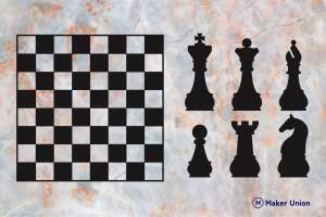 Chess dxf files preview