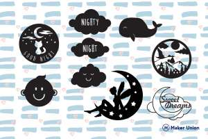 Children's bedroom decorations dxf files preview