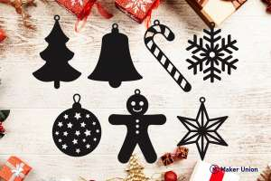 Christmas decorations dxf files preview