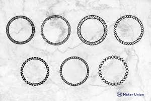 Circular frames dxf files preview