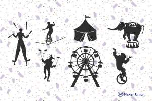 Circus dxf files preview
