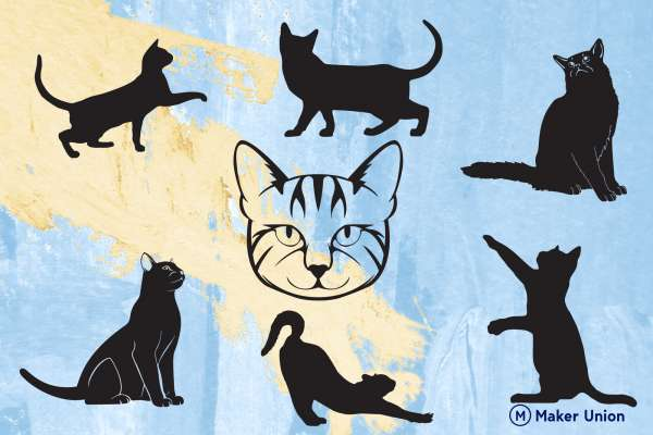 Crazy for cats dxf files preview