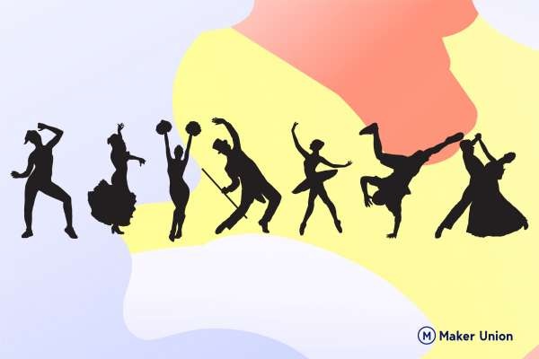 Dance silhouettes dxf files preview