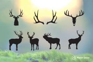 Deer dxf files preview