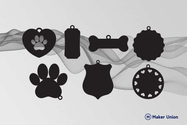 Dog Tags free dxf files preview