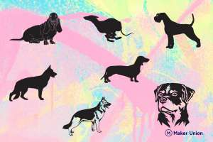 Dogs dxf files preview