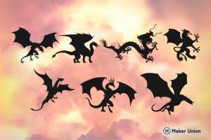 Dragons dxf files preview