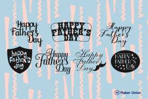 Father's day dxf files preview