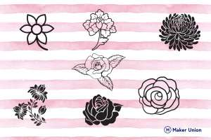 Flower festival dxf files preview