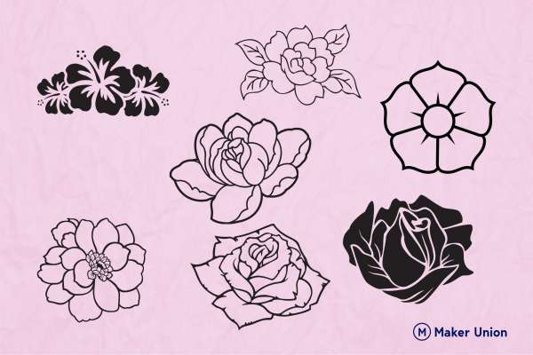 Flower power dxf files preview