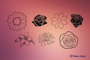 Flowers dxf files preview