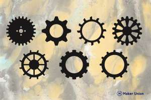 Gears dxf files preview