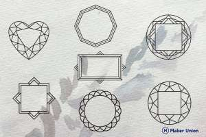 Geometric frames dxf files preview
