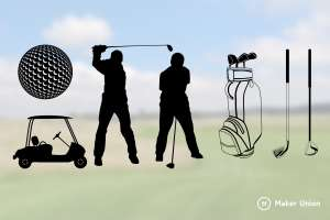 Golf dxf files preview