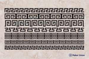 Greek patterns dxf files preview