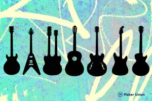 Guitars dxf files preview