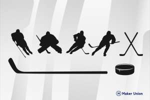 Ice hockey dxf files preview