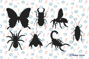Insects dxf files preview