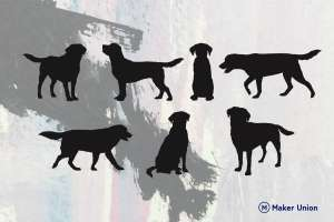 Labrador retrievers dxf files preview