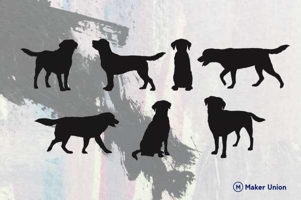Labrador retrievers dxf files preview