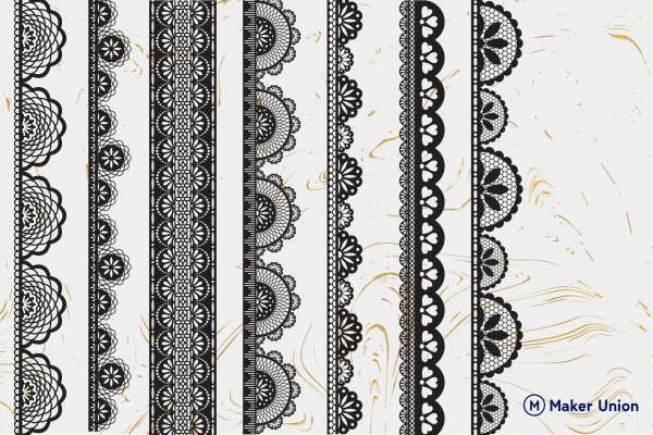 Lace borders dxf files preview