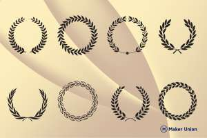 Laurels and wreaths dxf files preview