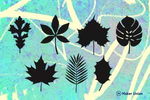Leaf shapes dxf files preview