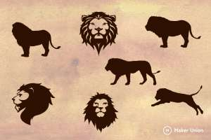 Lions dxf files preview