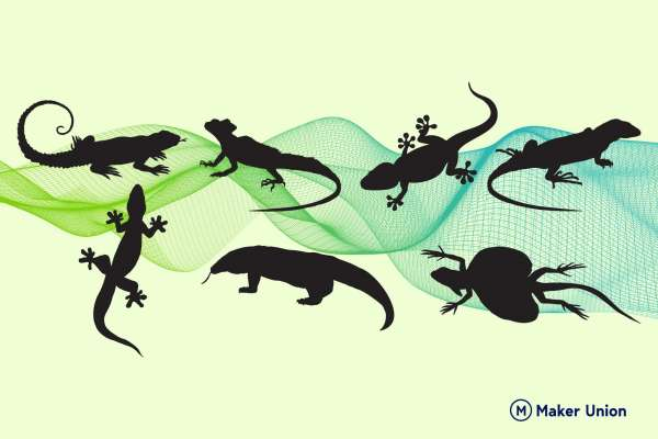 Lizards dxf files preview