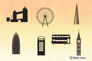 London scenery dxf files preview