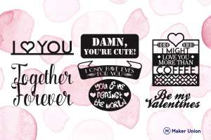 Love letters dxf files preview