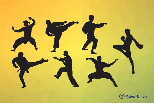 Martial arts free dxf files preview