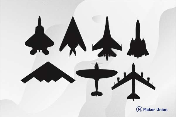 Military aircraft dxf files preview