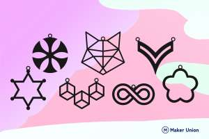 Minimalist necklaces dxf files preview