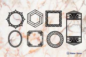 Mirror frames dxf files preview